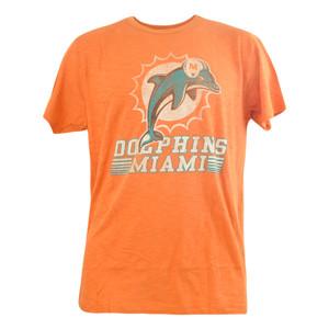 NFL '47 Brand Miami Dolphins Distressed Logo Fadeaway Scrum Tshirt Shirt Tee