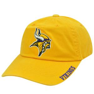 NFL Minnesota Vikings Yellow Purple Garment Wash Relaxed Fit Football Licensed