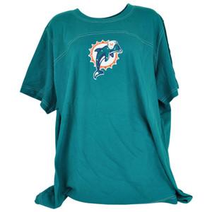 NFL For Her Miami Dolphins Fins Bling Women Ladies Fan Tshirt DW5049