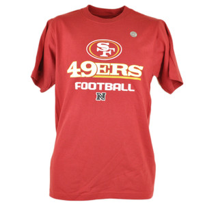 NFL Reebok San Francisco 49ers Forty Niners NFC West Football Tshirt Tee
