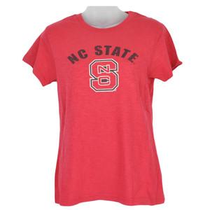 NCAA North Carolina State Wolfpack Red Shirt Women Ladies Tshirt Triblend Tee