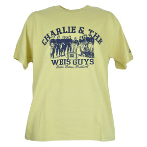 NCAA Charlie & The Weis Guys Notre Dame Fighting Irish Adidas Mens Shirt Tshirt