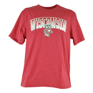NCAA Colosseum Wisconsin Badgers Gradient Mens College Sports Tshirt Tee