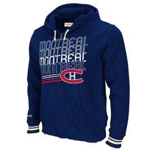 NHL Mitchell & Ness 8484 Repeat Fleece Hoody Hoodie Montreal Canadiens