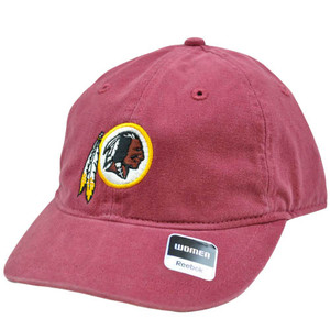 NFL Washington Redskins Maroon Red Relaxed Womens Ladies Heart Cap Hat Reebok