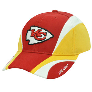 NFL Kansas City Chiefs AFC West Reebok Red Yellow White Velcro Cotton Construct