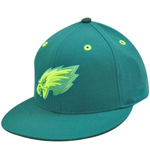 PHILADELPHIA EAGLES FLAT BILL GREEN HAT CAP FIT 7 5/8