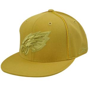 PHILADELPHIA EAGLES FLAT BILL MUSTARD HAT CAP FIT 8 NEW