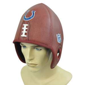 NFL Indianapolis Colts Reebok Faux Leather Football Shaped Helmet Head  Hat Cap