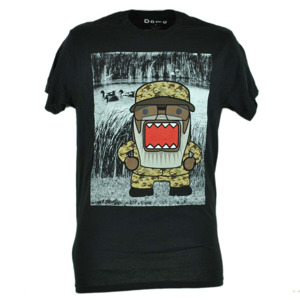 Domo Kun NHK Swamp Camouflage Graphic Tshirt Japanese Animation ... 5a3f7187619e