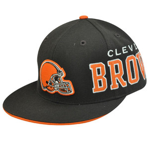NFL CLEVELAND BROWNS CHOMPS ELF FLAT BILL FITTED 7 3/4