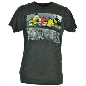 Angry Birds Steel Workers New York City Video Game Smart Phone App Tshirt