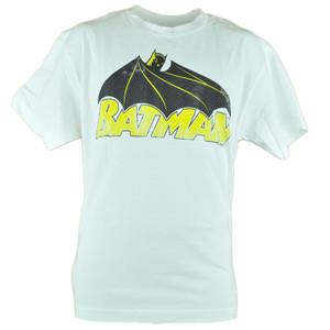 Batman DC Comics White Super Hero Faded Book Cartoon Show Tshirt Tee Mens