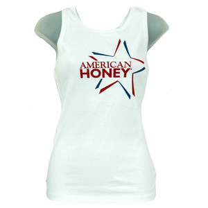 American Honey July 4th Red White Blue Star Juniors Girls Tank Top Shirt
