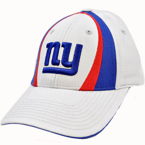 NFL New York NY Giants Gray Blue Red Velcro Jersey Mesh Licensed Hat Cap Apparel