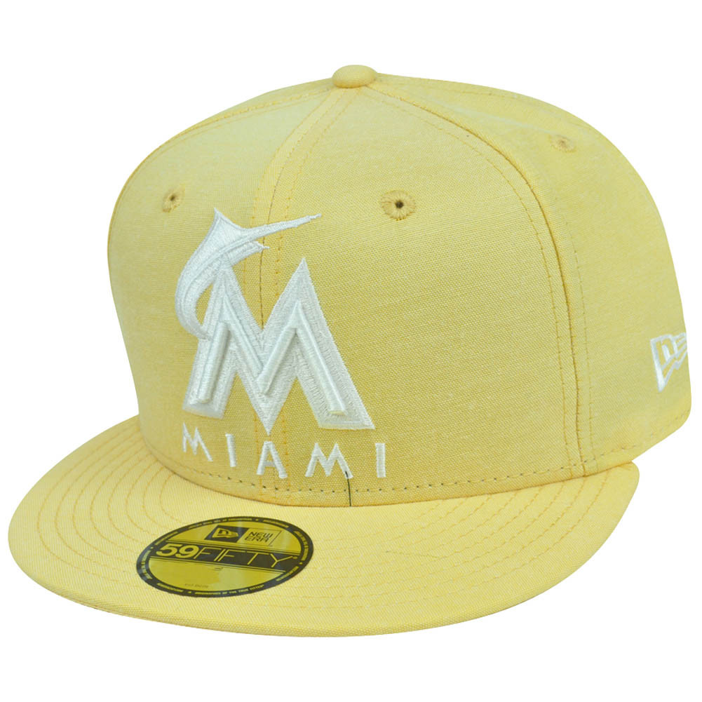 MLB New Era 59Fifty 5950 Pastalin Miami Marlins Fitted Hat Cap ... b77f6da4120