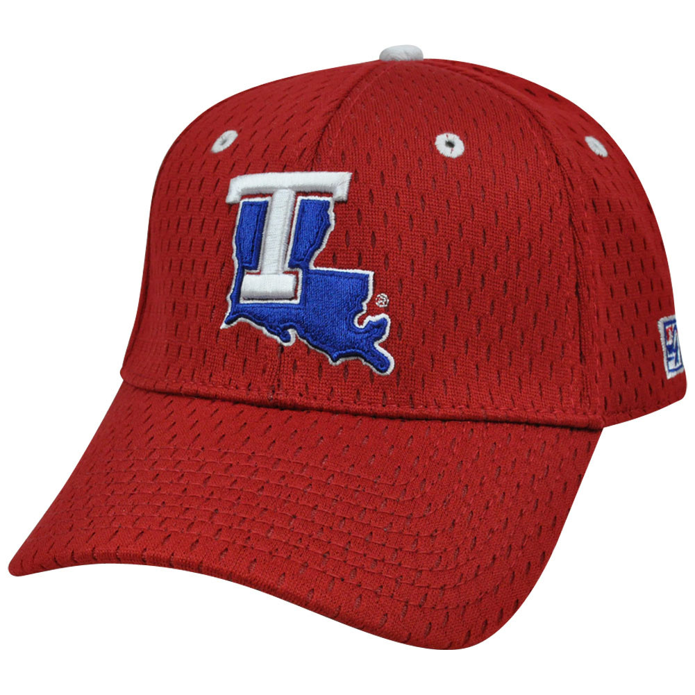 NCAA Louisiana Tech Bulldogs Mesh Construct Curved Bill Hat Cap Red ... f84c9b982c3c