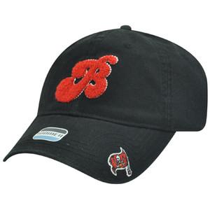 NFL Tampa Bay Buccaneers Black Red Women Ladies Garment Wash Chenille Hat Cap