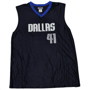 NBA Dallas Mavericks  Dirk Nowitzki Basketball Jersey Sleeveless Polyester Large