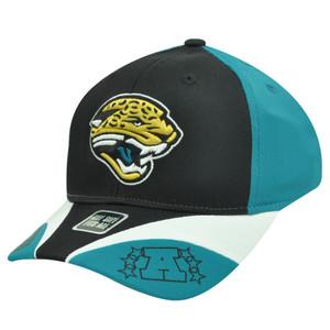 NFL Jacksonville Jaguar Flex Fit Teal Blue Black AFC Football Conference Hat Cap