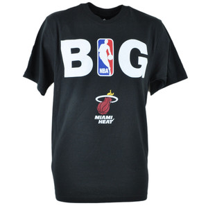 Adidas NBA Miami Heat BIG Tshirt Tee Black Adult Men Tshirt Tee Large Lg Shirt