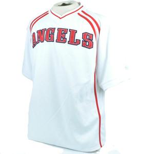 MLB LA Los Angeles Angels Lightweight Baseball Jersey True Fan Licensed Large LG
