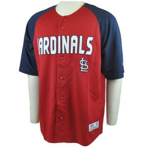 MLB True Fan St Louis Cardinals Felt Applique Authentic Licensed Jersey Large LG