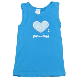 MLB Florida Miami Marlins Baseball Toddler Girls Heart Cotton Tank Top Blue