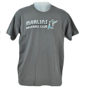 MLB Florida Miami Marlin Baseball Club Junior Youth Tshirt Licensed Tee Gray