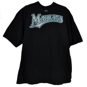 MLB Jeremy Hermida 27 Florida Miami Marlins Black Adult Tshirt Tee Shirt