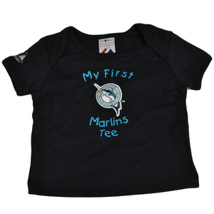 MLB Florida Miami Marlins Baseball Babies Boy Infant Tee Tshirt Black