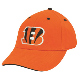 NFL CINCINNATI BENGALS ORANGE COTTON VELCRO HAT CAP