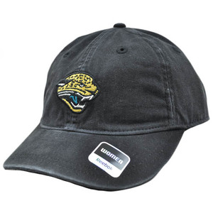 NFL Jacksonville Jaguars Black Reebok Womens Ladies Wash Relaxed Heart Hat Cap