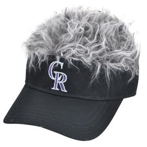 MLB Colorado Rockies Creed Flair Grey Hair Visor Adjustable Fan Velcro Hat Cap