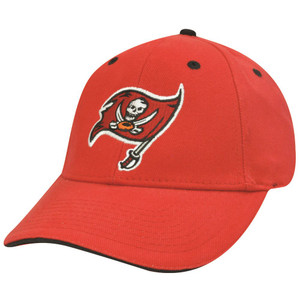 NFL TAMPA BAY BUCCANEERS BUCS RED COTTON VELCRO HAT CAP