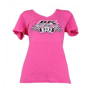BK Racing Nascar Morgan Shepard #93 Ryan Truex #83 Women Tshirt V-neck Pink XL