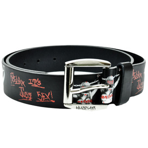Hustler Relax Taboo Hardcore 8-1011 Black Leather Belt Buckle Adult Waistband