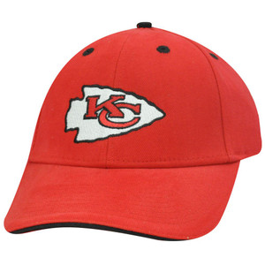 NFL KANSAS CITY CHIEFS ARROW HEAD RED VELCRO HAT CAP