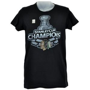 NHL LNH Chicago Blackhawks Womens Ladies Tee Stanley Cup Champs Tshirt