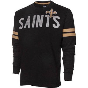 NFL New Orleans Saints Rave Cotton Long Sleeve Premium Shirt Sweatshirt Large LG