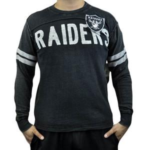NFL Oakland Raiders Rave Cotton Long Sleeve Premium Shirt Sweatshirt Large LG
