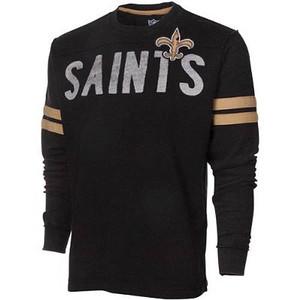 NFL New Orleans Saints Rave Cotton Long Sleeve Premium Shirt Sweatshirt XLG XL