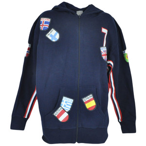 Euro Cup Countries International Hooded Hoodie Sweater Fleece Zipper Jacket