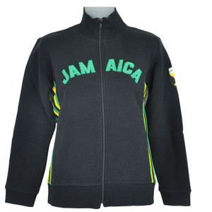 Jamaican Flag Rasta Rastafari Fleece Track Jacket Women Ladies Felt Sweater