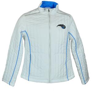 NBA Licensed Orlando Magic Womens Ladies Bubble Winter Zipper Jacket Sweater
