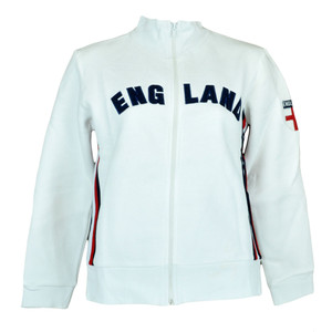 England English Fleece Track Jacket Women Ladies Felt Zipper Sweater