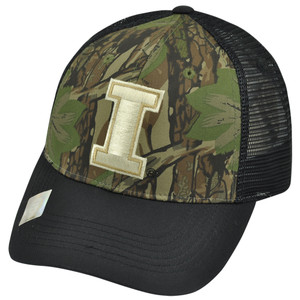 NCAA Illinois Fighting Illini Freshman Trucker Camouflage Mesh Snapback Hat Cap