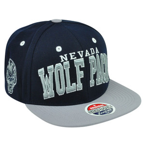 NCAA Nevada Wolf Pack Zephyr Reno Super Star Snapback Two Tone Flat Bill Hat Cap