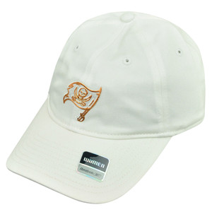 NFL Reebok Women Tampa Bay Buccaneers White Gold Clip Buckle Hat Cap Rbk Bucs