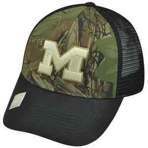 NCAA Michigan Wolverines Freshman Trucker Camouflage Camo Mesh Snapback Hat Cap